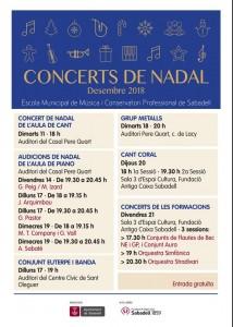 Concerts de Nadal - Escola Municipal de Música i Conservatori Professional de Sabadell