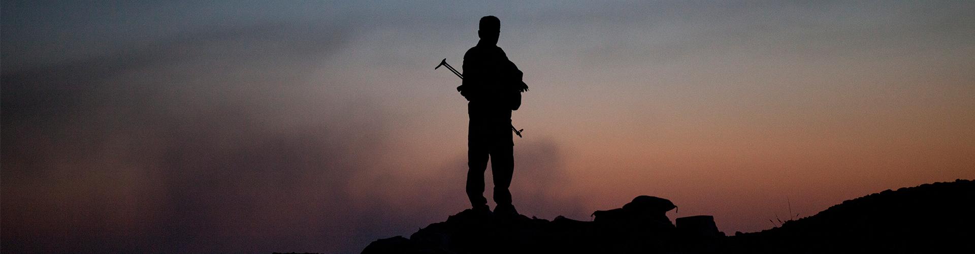 """""""Exposició: Davant l'Estat Islàmic. Lluita Peshmerga i població civil"""""""
